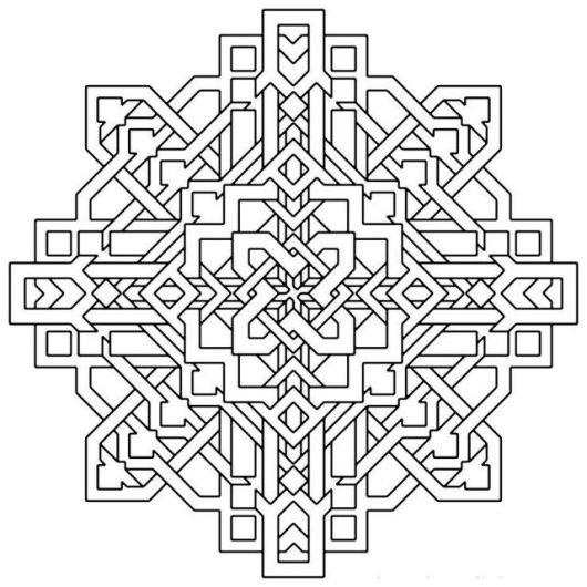 Geometric Optical Illusions Coloring Pages