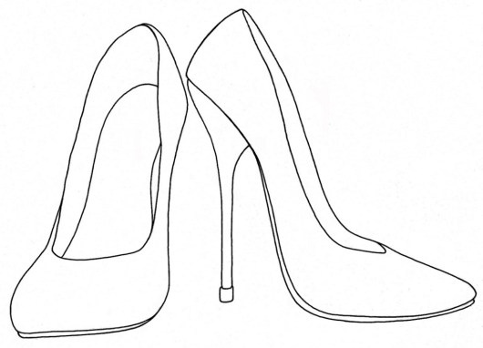 High Heels Shoes Coloring Printable And Drawing