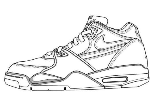 Nike Air Max Coloring Page Shoes