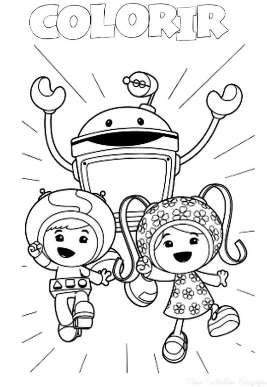 Printable Team Umizoomi Christmas Coloring Pages