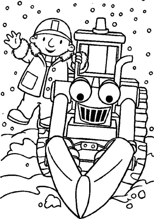 pullback lofty vehicle and bob the builder coloring sheet