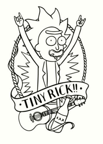 Rick and Morty Coloring Pages Coloring Pages