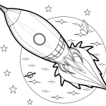 Rocket Aircraft Coloring Books