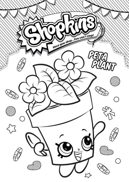 Shopkins Peta Plant Coloring Pages For Kids