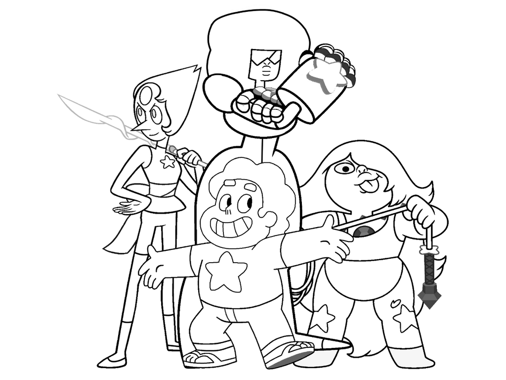 Character Coloring Pages. Simple Steven Universe Characters Coloring ...