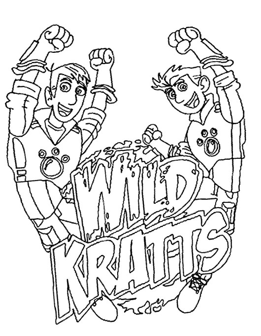 Wild Kratts Coloring And Drawing
