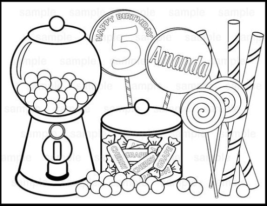 Sweet Candy Coloring Pages - Coloring Pages