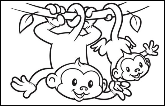 Monkey Coloring Pages Online A Fun Learning For Kids