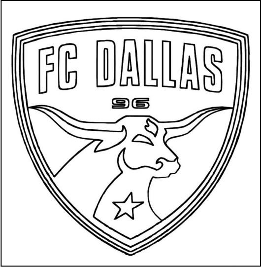 FC Dallas MLS Logo Coloring Sheet