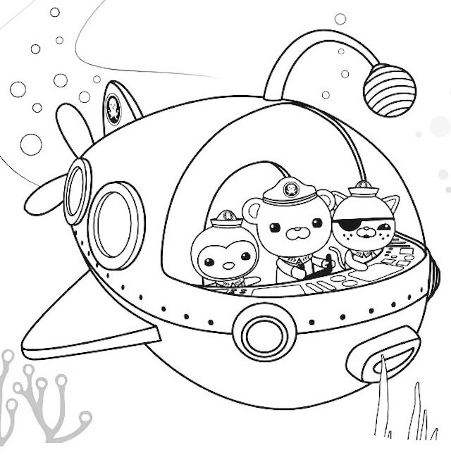Go On An Adventure With Octonauts Coloring Picture