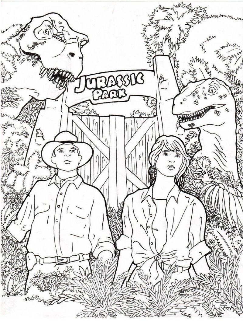 Nice Jurassic Park Raptor Coloring Pages Photos - Entry Level ...