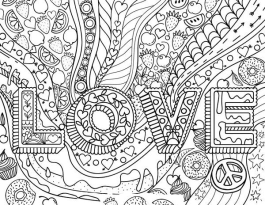 Love Coloring Book Printable