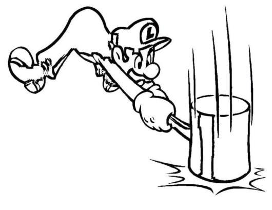 Luigi Character of Mario Bros Coloring Book