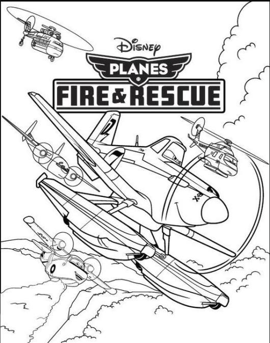 Planes Fire and Rescue Disney Coloring Book
