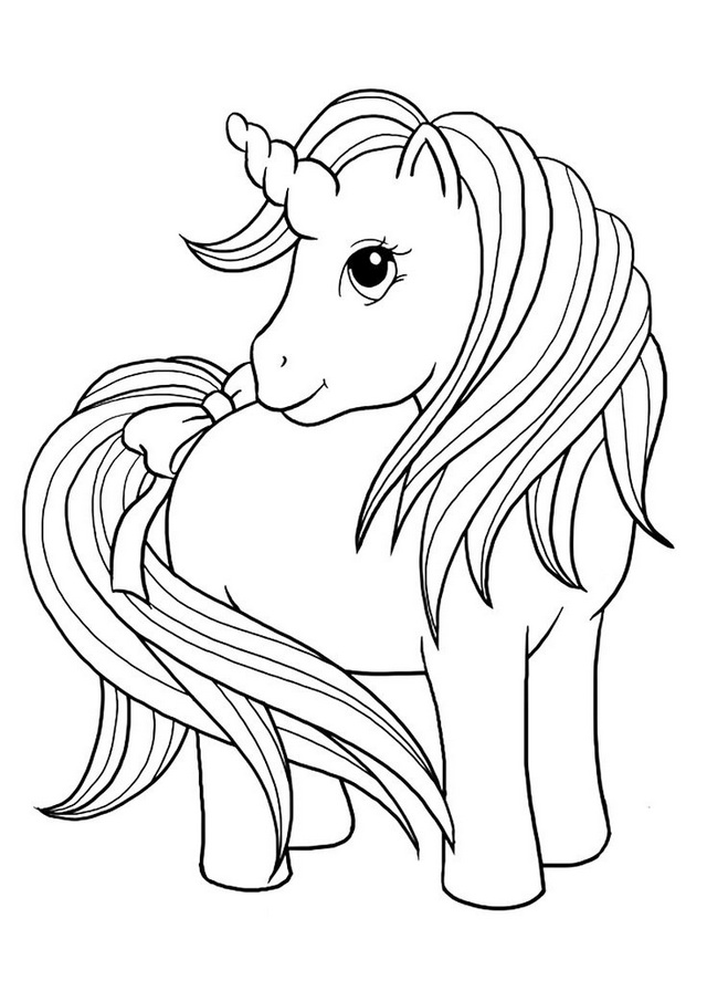 cute baby unicorn coloring page - Coloring Pages