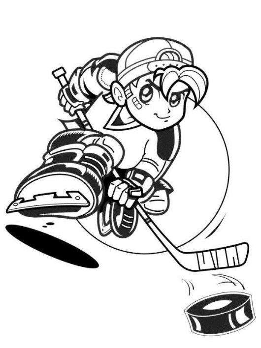 hockey cartoon coloring book