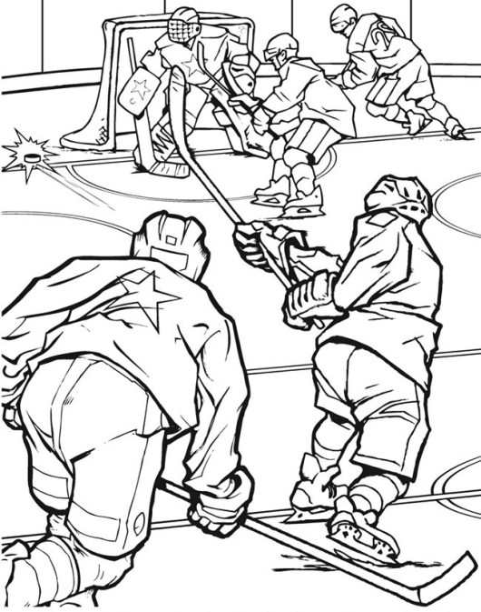 hockey team match in field hockey coloring page