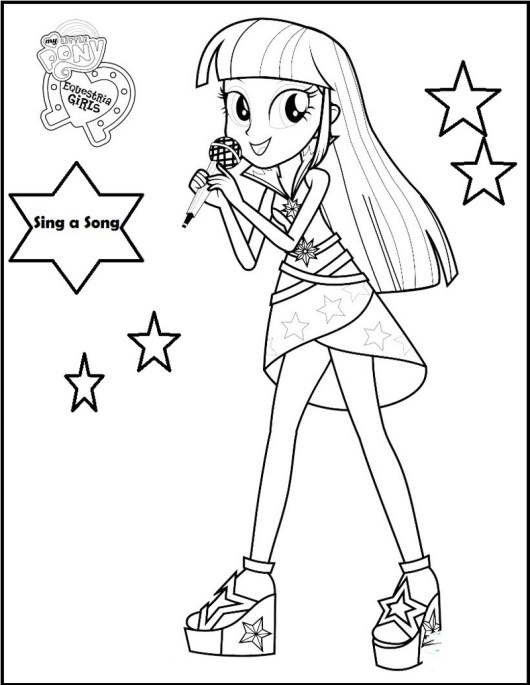 my little pony equestria girl singer coloring sheet