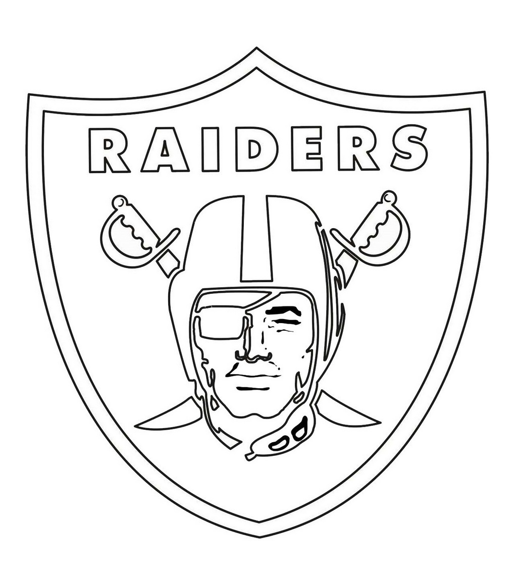 Oakland Raiders From Nfl Coloring Sheet