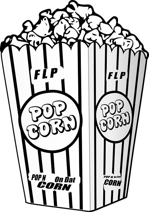 popcorn snack coloring sheet