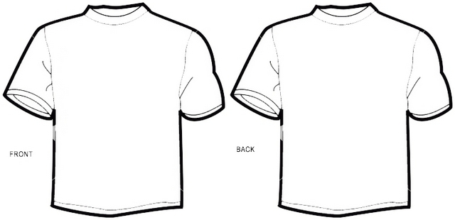 printable blank t shirt front and back coloring pictures