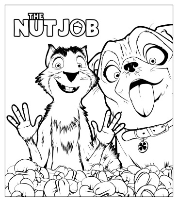 printable the nut job coloring page - Coloring Pages Coloring Pages