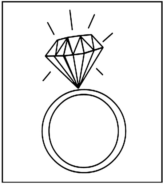 ring jewelry coloring sheet