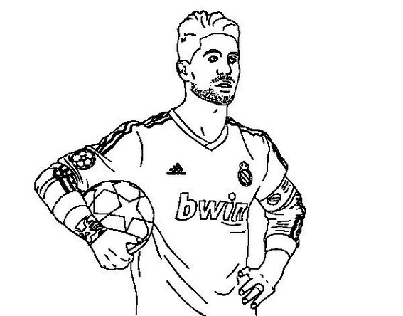 sergio ramos of real madrid coloring soccer player coloring sheet