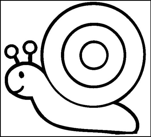 simple snail coloring page for toddlers