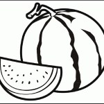 watermelon coloring and activity page