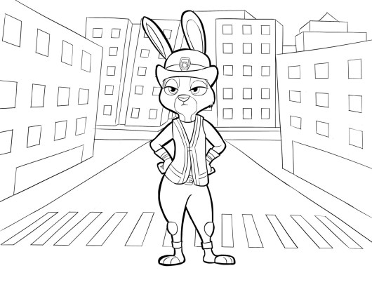 zootopia coloring and activity page disney for kids