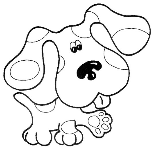 Blues Clues Coloring Sheet for early childhood
