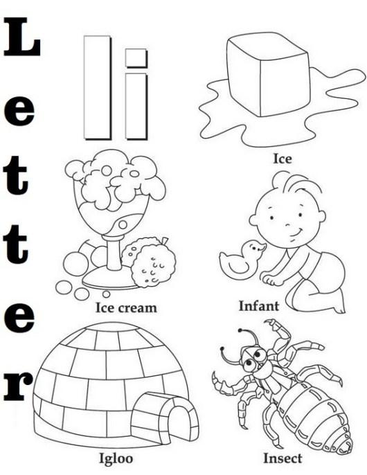 Letter I Coloring Book for kids