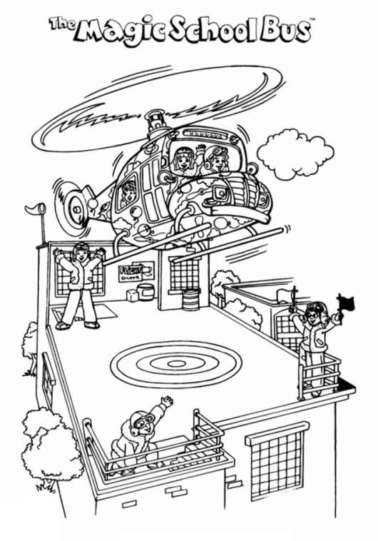 Magic School Bus Coloring Pictures for Kids