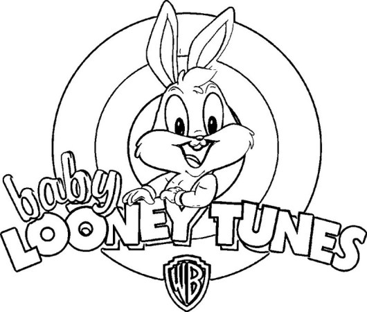baby looney tunes coloring sheet