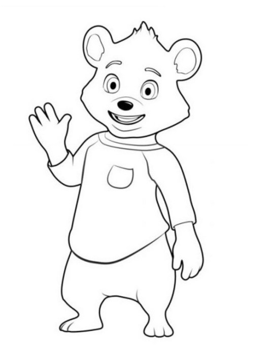 bear from goldie and bear coloring