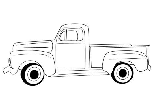 classic ford truck coloring and drawing sheet