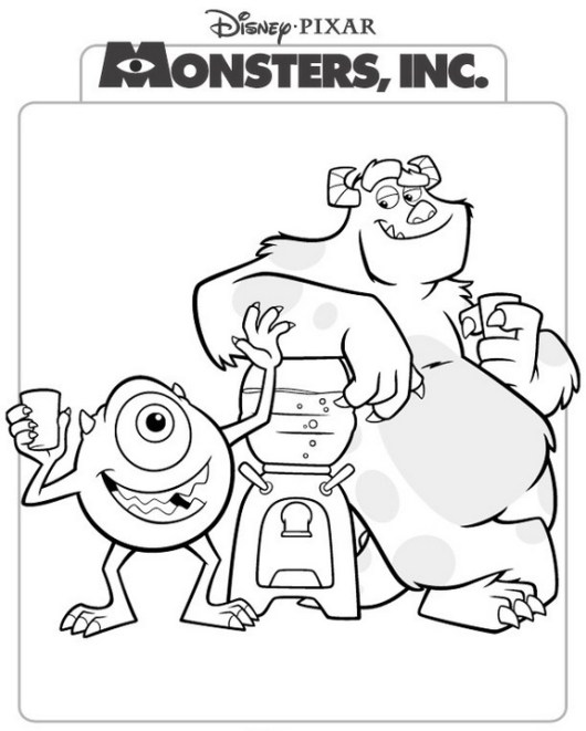 epic Monster Inc Disney Coloring Pages