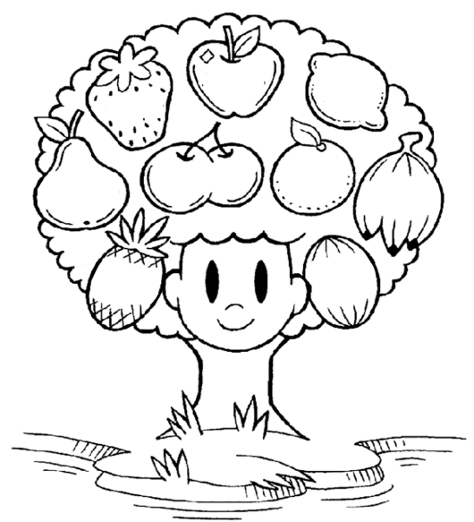 fruit of the spirit filling the blank coloring sheet