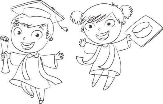 fun graduation coloring page for boys and girls - Graduation Coloring Pages