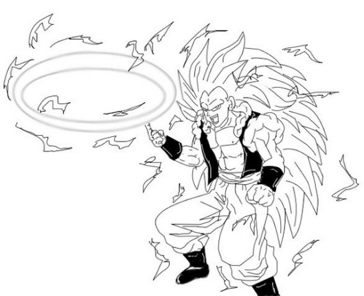 goku super saiyan coloring sheet printable
