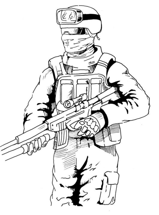 high detailed graphic call of duty coloring picture