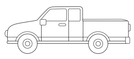 how to draw pick up truck