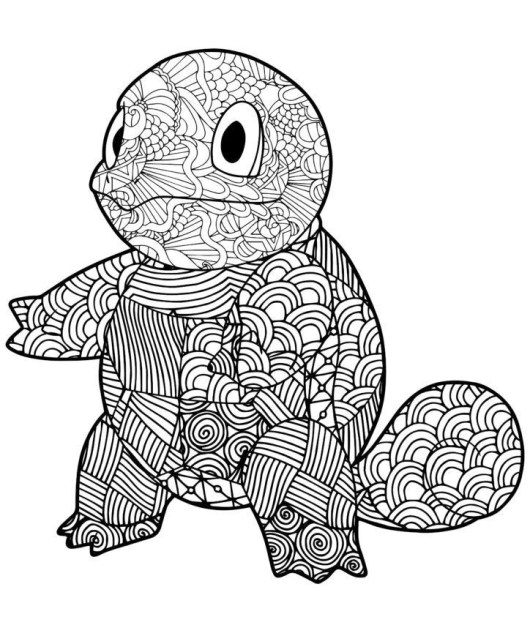 mandala squirtle coloring page printable