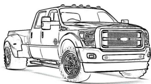 new ford truck coloring page