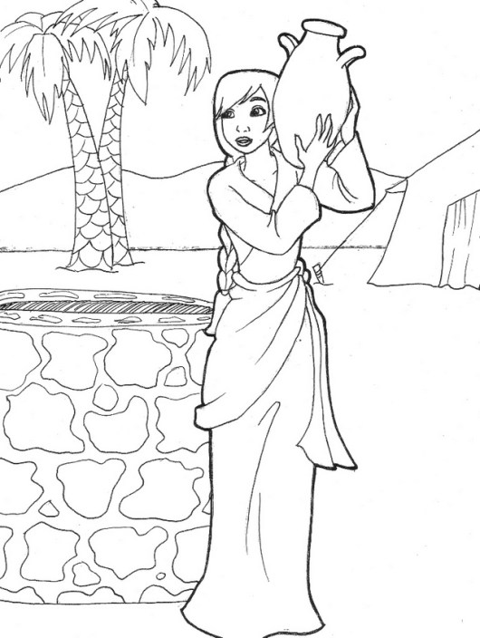 samaritan women at well coloring sheet