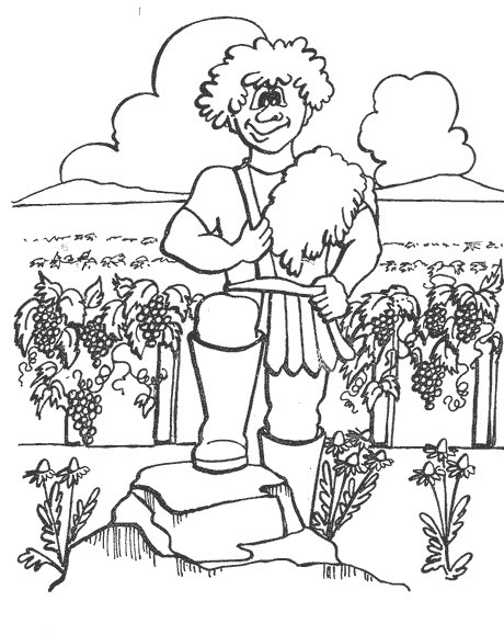 Gideon Coloring Pages And Activities Gideon And Angel Coloring ...