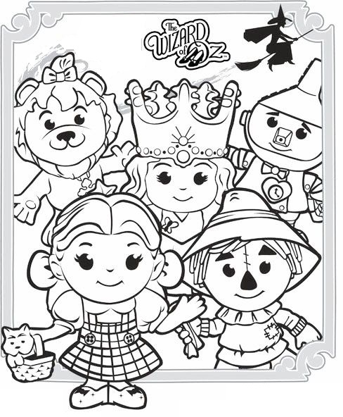 the wizard of oz characters coloring picture printable