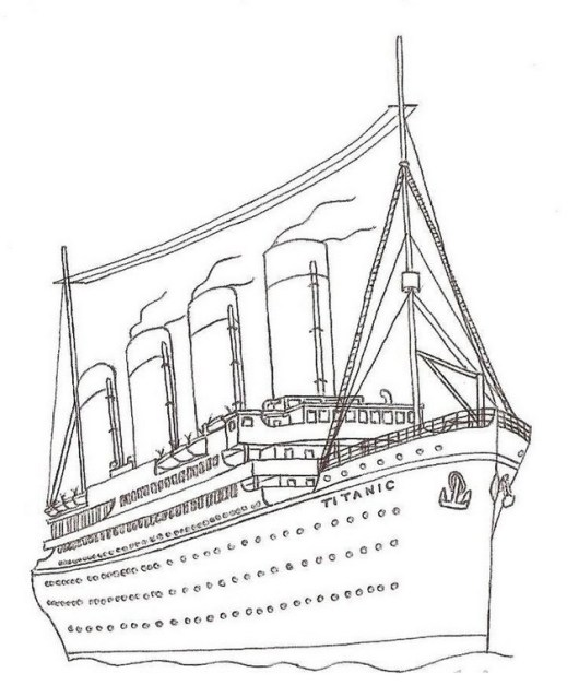 titanic ship coloring page