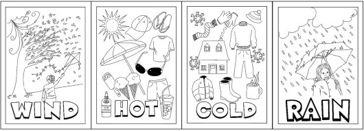 types of weather coloring sheet printable - Weather Coloring Pages